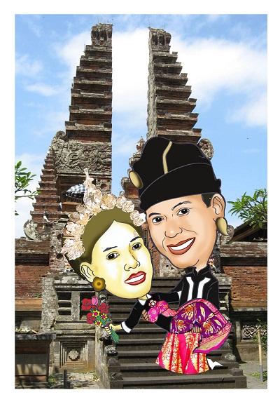 Tema Undangan Pernikahan Karikatur